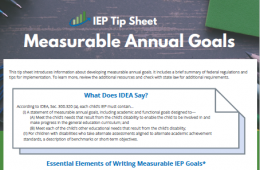 Cover of Measurable Annual Goals Tip Sheet