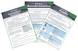 IEP Tip Sheets